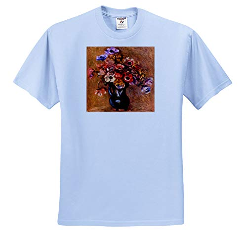 - VintageChest - Masterpieces - Renoir - Vase with Anemones - T-Shirts - Toddler Light-Blue-T-Shirt (2T) (ts_303061_63)