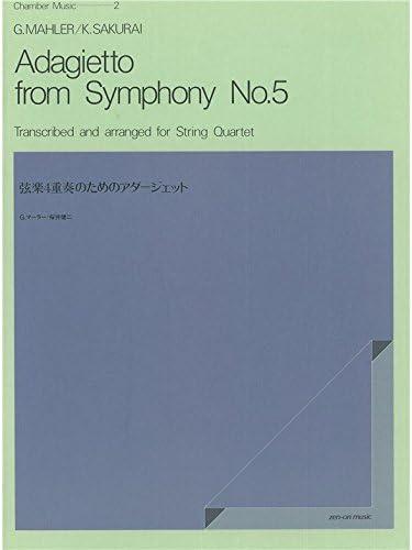 Gustav Mahler Adagietto Symphony No.5 String Quartet Score Parts MUSIC BOOK