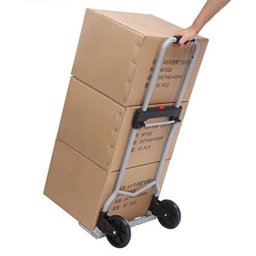 Dtemple 220lbs Capacity Heavy Duty Hand Truck/Dolly for Industrial Travel Shopping by Dtemple (Image #6)