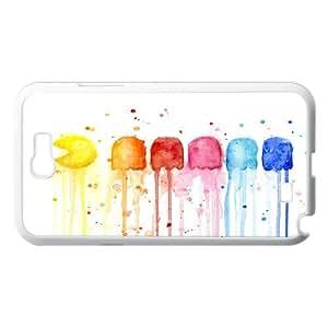 Kweet Prints Samsung Galaxy Note 2 Case Retro Rainbow, {White}