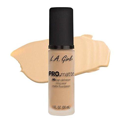 LA Girl PRO.mattte HD.high-definition long wear matte foundation (GLM671 Ivory)