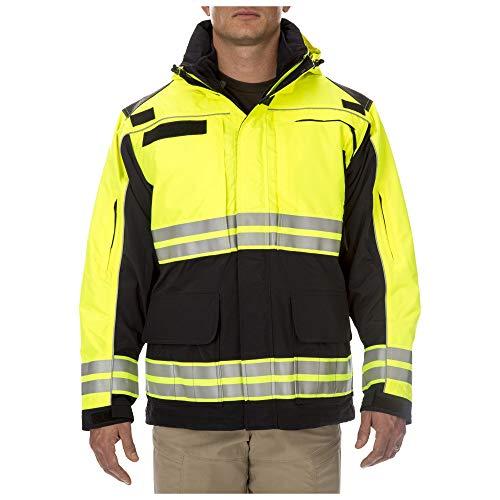 5.11 Tactical Responder High-Visibility Parka Jacket, Waterproof, Reflective Tape, Dark Navy, 2XL, Style 48073