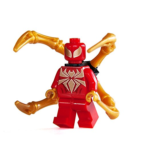 [Custom Bricks Spiderman Iron Spider Suit Character for Marvel Civil War & Infinity War Building Blocks Minifig Collection by Trendyz] (Iron Spider Costume)