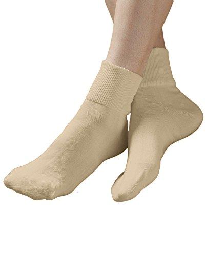 Buster Brown 100% Cotton Socks, Khaki, 9, 6-pk