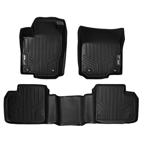 (SMARTLINER Floor Mats 2 Row Liner Set Black for 2012-2018 Mercedes Benz ML/GL / GLE/GLS)