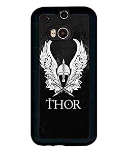 Marvel Comics Personalized Pattern Thor Logo Funda Case Scratch-Proof Ultra Slim Plastic Back Cover For HTC One M8