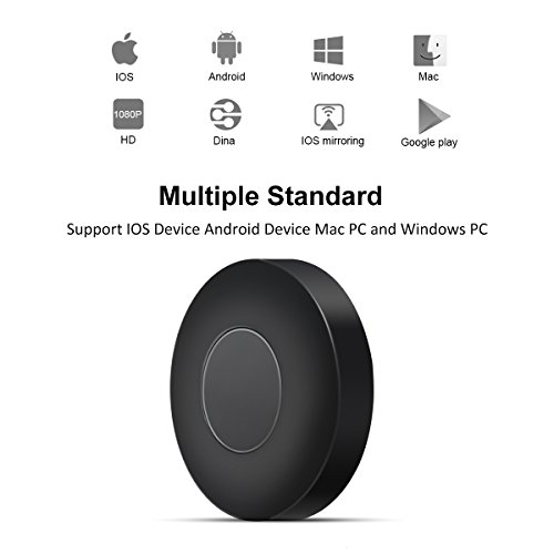 WIFI Display Dongle, ELEGIANT Wireless Screen Mirroring Adapter 1080P Video Receiver Mini Display Receiver HD AV Dual Output Support Airplay DLNA Miracast for iOS/Android/TV/Projector by ELEGIANT (Image #1)