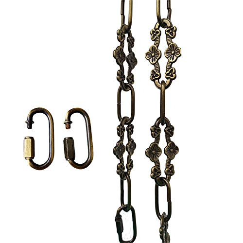 Antique Bronze Hanging (WOERFU 32 inch Antique Bronze Finish Decorative Plum buckle Chain for Hanging, Lighting)