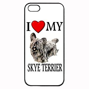 Custom Skye Terrier I Love My Dog Photo iPhone 4 4S Case Cover Hard Shell Back