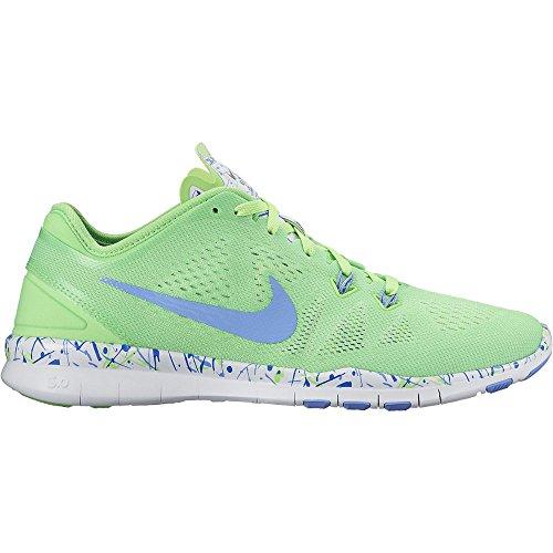 Nike Womens Gratis 5.0 Tr Fit Trainingsschoen (print) Voltage Groen / Wit / Krijtblauw 12