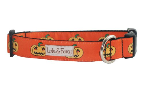 Lola & Foxy Pumpkin Dog Collar, Large