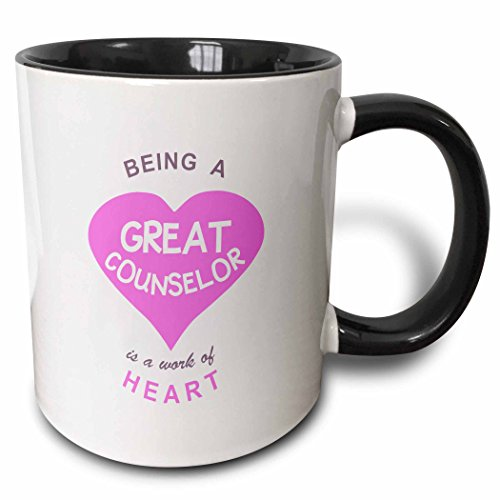 3drose-being-a-great-counselor-is-a-work-of-heart-pink-care-giving-job-quote-two-tone-black-mug-11oz