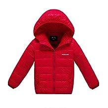 MNBS Boys Girls Childrens Kids Winter Down Coat Outerwear Hooded Puffer Jacket