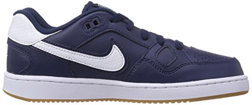 Nike Of Force - Zapatillas de Cuero Para Niño Azul Blau (Midnight Navy/White-Gum Light Brown) 35.5