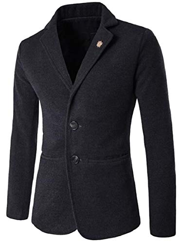 Solid Casual Mens Blazer Dark Button Grey Separate Two Slim Jacket Suit Fit security Jacket X8Axdqgw