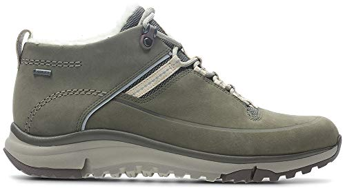 CLARKS Womens Tri Fern GTX Khaki Combi Hiking Shoe - 8