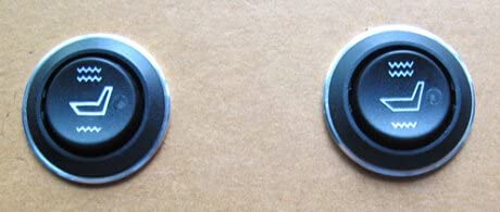 Besond seat heater switch,round hi-off-lo,2 pcs,for replace the damaged
