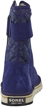 Sorel Girl's Newbie Boots, Collegiate Navy/Fossil, 3 UK 36 EU