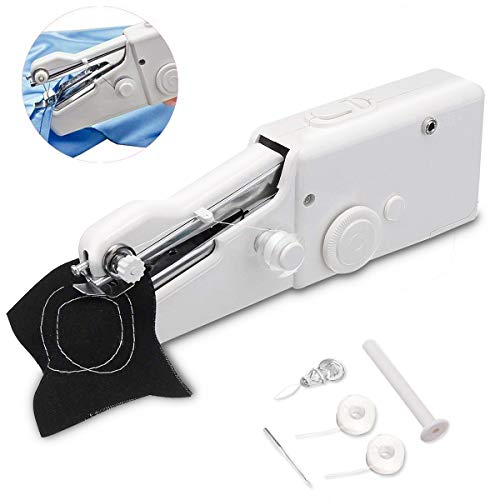 Catpalm Portable Sewing Machine,Mini Handheld Sewing Machine Electric Stitch Household Tool with Measuring Tape for Fabric, Clothing, Kids Cloth, Home Travel Use