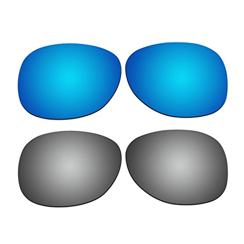 2 Pair COODY Replacement Polarized Lenses for Ray-Ban RB2132 55mm Sunglasses Pack - Rb2132 Lenses