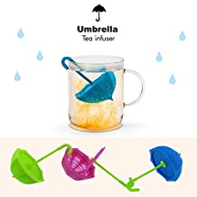 Cisixin 3 Pcs Umbrella Shape Cute Silicone Plastic Tea infuser /Tea Ball /Tea Strainer /Mesh Tea Strainer /Tea Filters (Random color)