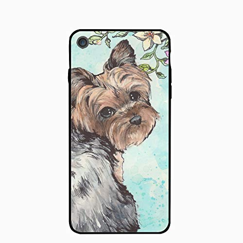 iPhone 6 Case,iPhone 6s Case,Spring Yorkie Dog for Girls Women Best Protective Rubber Slim Fit Thin Phone Case Compatible for iPhone 6/iPhone 6s