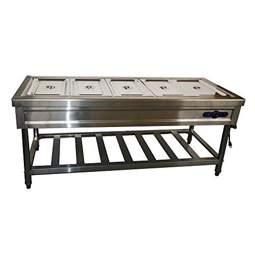 Pan Full Size Hot Well BainMarie Buffet Steam Table Food Warmer - Used buffet steam table for sale