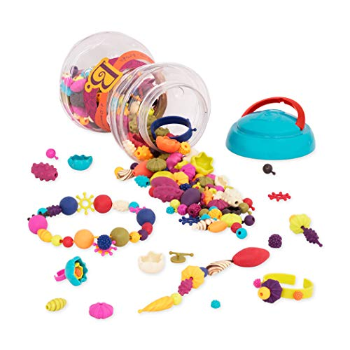 B. Toys - 300 Pcs - Pop Snap Bead Jewelry Set for Kids - Pop Arty! - DIY Craft Jewelry Making Kit - Creative Necklaces, Rings, Bracelets - 4 Years +