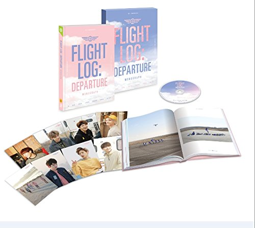 GOT7 Monograph - Flight Log: Departure (DVD + Photobook) (LTD)[+GOT7 autograph photo][+Polaroid photo(including signature)][+transparent photocard][+GOT7 poster][+postcard][+pop-up sticker]