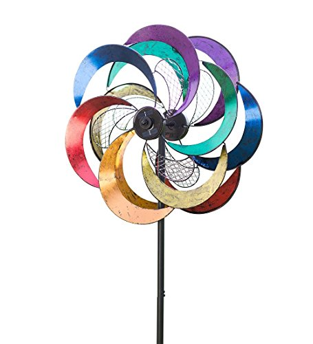 Solar Mesh Rainbow Wind Spinner -