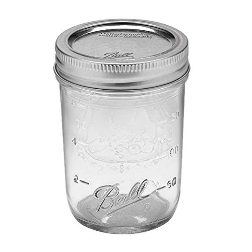 Ball Mason Jars 8 oz Bundle with Non Slip Jar Opener- Set of 4 Half Pint Size Jelly Mason Jars with Regular Mouth - Mini Canning Glass Jars with Lids and Bands by Jar Heads (Image #3)