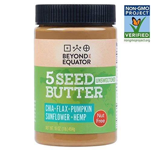 Beyond the Equator 5 Seed Butter Nut Free, Keto, and Non-GMO - No Added Sugar 1 pack (Cashew Added Sugar)