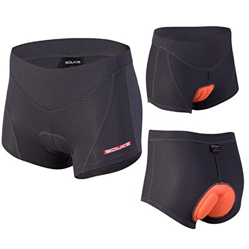 Eco-daily Women's 4D Padded Breathable Bicycle Cycling Underwear Shorts Underpants