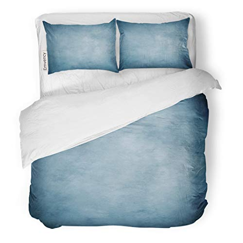 Tarolo Bedding Duvet Cover Set Photography Canvas Muslin Studio Suitable for Use Portraits Products and Various Shades of Blue Color 3 Piece Twin 68