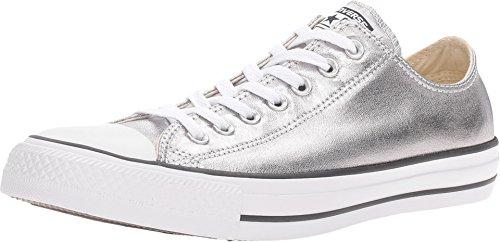 Converse Unisex Chuck Taylor All Star Ox Low Top Classic Gunmetal/White/Black Sneakers - 10.5 B(M) US Women / 8.5 D(M) US Men
