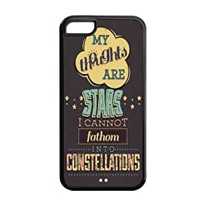 5C Phone Cases, Quotes from The Fault in Our Stars Hard TPU Rubber Cover Case for iPhone 5C