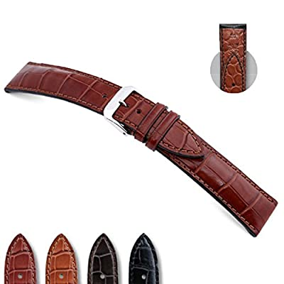 RIOS1931 Monarch - Genuine Alligator Watch Band with Genuine Alligator Backing 114x82 by Panatime