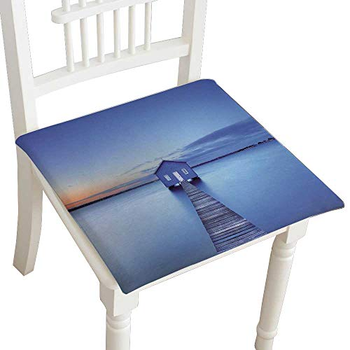 HuaWuhome Chair Pads Squared Seat Sunrise Over The ilda Bay Boathouse in The Swan River in Perth Western Australia Outdoor Dining Garden Patio Home Kitchen Office 22