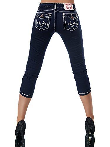Capri Básico Diva Para Azul Marino jeans Mujer Vaqueros qFwEPw6