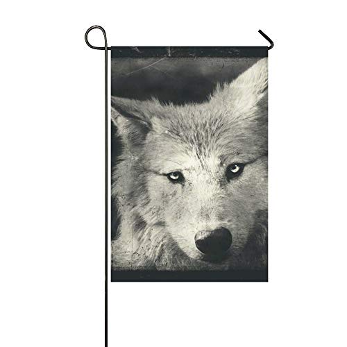 Home Decorative Outdoor Double Sided Awesome Halloween Wallpaper With Mystical Wolf Garden Flag,house Yard Flag,garden Yard Decorations,seasonal Welcome Outdoor Flag 12 X 18 Inch Spring Summer Gift -