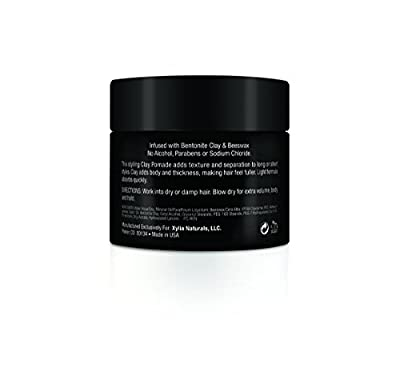 Intrepid for Men Clay Pomade Hair Paste Medium Hold that Adds Volume and Style without the Slick Shiny look of Hair Gel -Texturizes and Styles with Natural Looking Results
