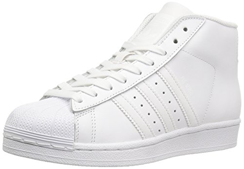 adidas Originals Unisex-Kids Pro Model J Sneaker, Ftwr White, Running White, Running White, 3.5 M US Big Kid