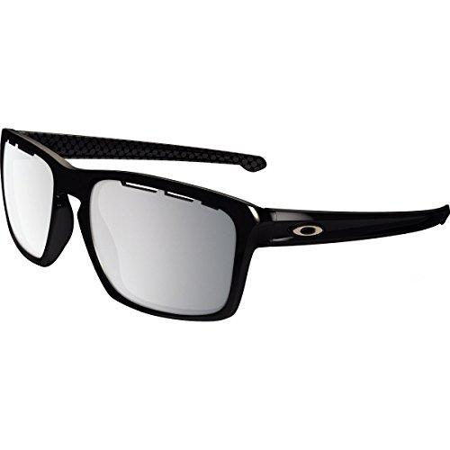 Oakley Men's Sliver Non-Polarized Iridium Rectangular Sunglasses, Polished Black, 57.03 - Sliver Oakley Lenses Prescription
