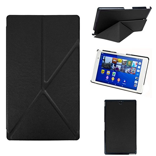 Coohole Ultra Slim Leather Case Cover Skin For Sony Xperia Z3 Tablet 8-inch (black)