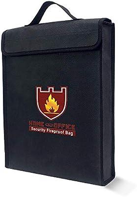 color negro 38x30.5x6.5cm TsunNee bolsa de documentos ign/ífuga resistente al agua bolsa de seguridad Lipo bolsa de seguridad ign/ífuga