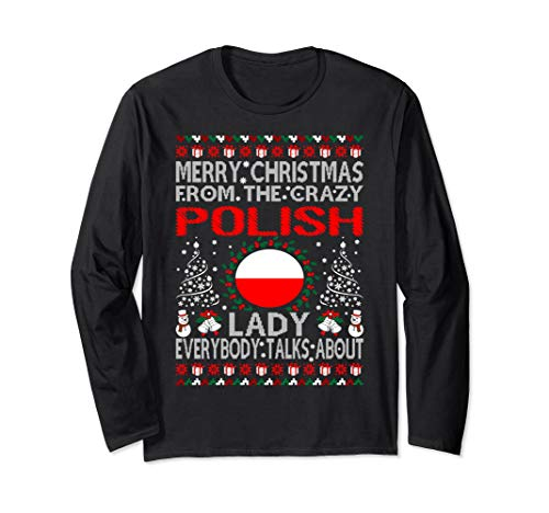 Merry Christmas From Polish Lady Ugly Sweater -