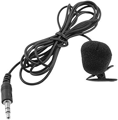 microfono de corbata-clip - SODIAL(R) MSN PC de color negro 3,5 mm ...