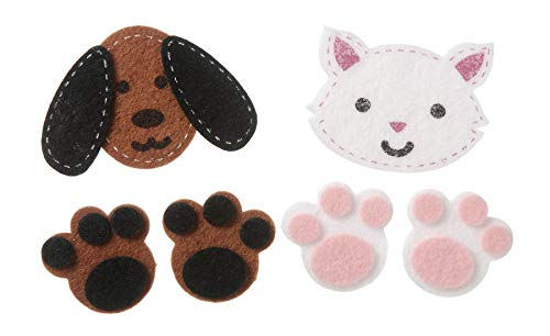Darice Felties Felt Stickers - Stitched Dogs and Cats - 24 Pieces
