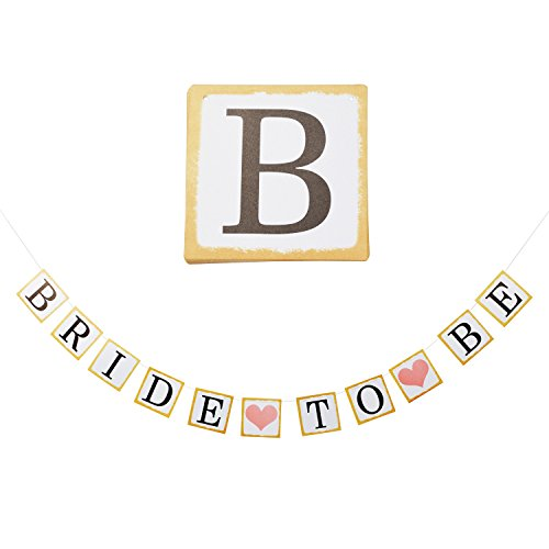 Bride To Be Banner, Bridal Shower Hanging Decor, Bachelorette Party Decorations, Wedding Garland, Photo Props Signs, White And Gold Cardboard With String And (Bride Hanging)