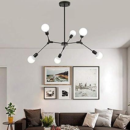 TastyHome Nordic European Flush Mount Lighting Adjustable Stylish  Chandelier For Dining Room Living Room (6